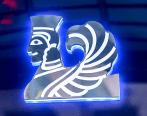 Изготовление эксклюзивного логотипа на стекле по индивидуальному проекту.